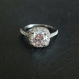 Attract Light Square Engagement Ring